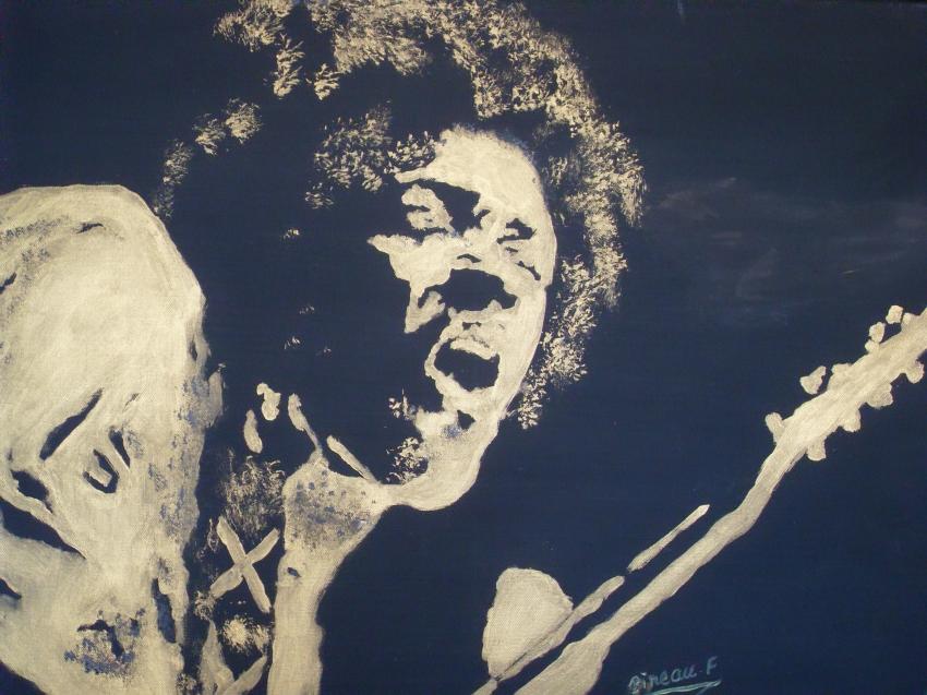 Jimi Hendrix by artistpierre